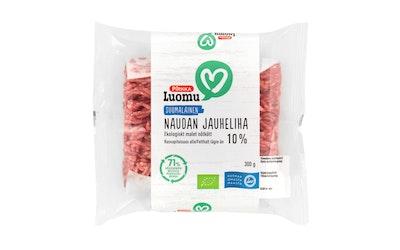 Pirkka Luomu suomalainen naudan jauheliha 10% 300g