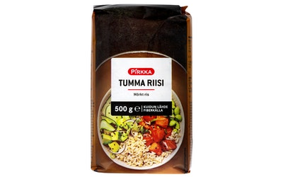 Pirkka tumma riisi 500g