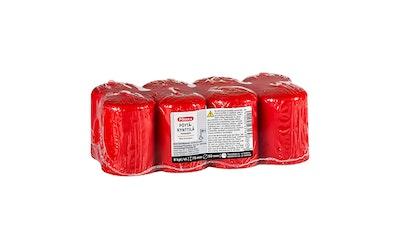 Pirkka kilopöytäkynttilä punainen 8kpl 15h