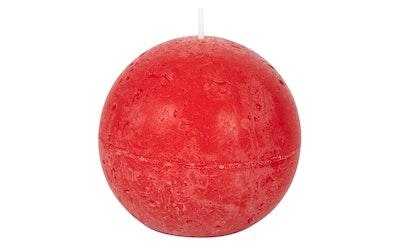 Pirkka rustiikki pallokynttilä 80mm punainen