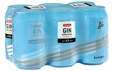 Pirkka GIN Long Drink 5,3% 0,33l 6-pack