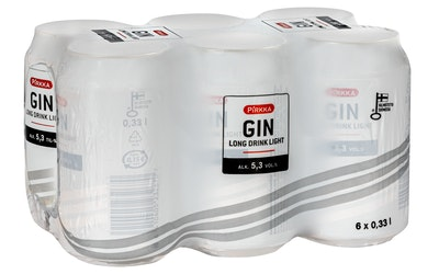 Pirkka GIN Long Drink Light 5,3% 0,33l 6-pack