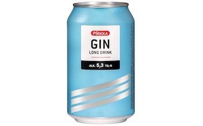 Pirkka GIN Long Drink 5,3% 0,33l
