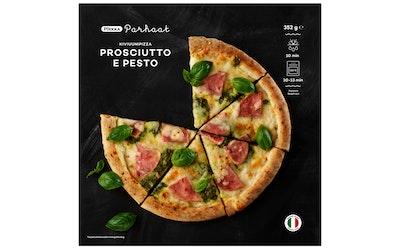 Pirkka Parhaat kiviuunipizza prosciutto e pesto kinkku-pestopizza 352g pakaste - kuva