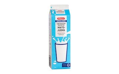 Pirkka suomalainen laktoositon rasvaton maitojuoma 1l