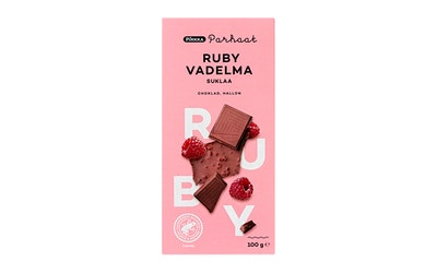 Pirkka Parhaat ruby vadelma suklaa 100g UTZ - kuva