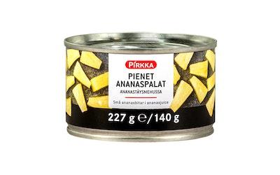 Pirkka pienet ananaspalat ananastäysmehussa 227g/140g