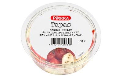 Pirkka Tapas makeat chilit & valkosipulinkynnet 60g - kuva