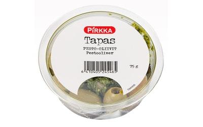 Pirkka Tapas pesto-oliivit 75g - kuva