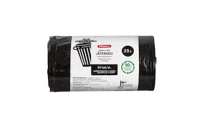 Pirkka jätekassi 25l 30kpl musta