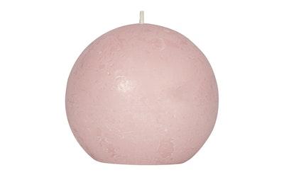Pirkka rustiikkikynttilä pallo 76mm vaalpunainen