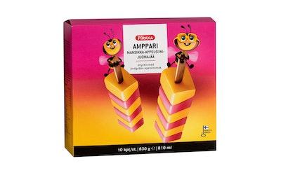 Pirkka Amppari mansikka-appelsiinijuomajää 10kpl/830g - kuva