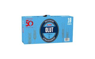 Pirkka olut 3,5% 0,33l 18-pack - kuva