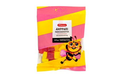 Pirkka Amppari makeissekoitus mansikka-sitrus 100g - kuva