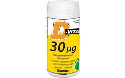 Vitabalans D-Vita 30ug 200 tabl päärynänmakuinen