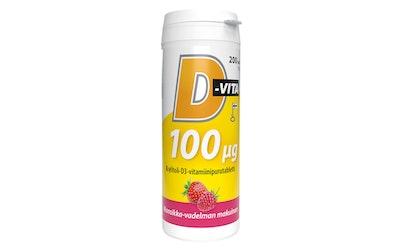 Vitabalans D-vita 100 ug 200 tabl mansikka-vadelmanmakuinen
