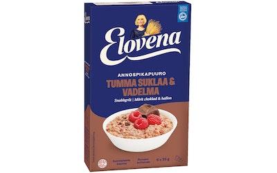 Elovena Hetki 210g tumma suklaa-vadelma annospikapuuro