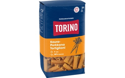 Torino kaura-porkkanapasta - tortiglioni 400g