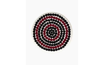 Marimekko Siirtolapuutarha lautanen 20 cm musta/ruusupuu - kuva