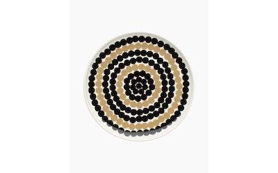 Marimekko Siirtolapuutarha lautanen 20 cm musta/beige - kuva