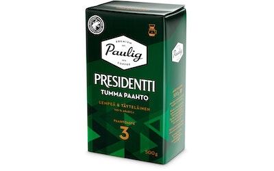 Presidentti Tumma Paahto kahvi 500g suodatinjauhettu