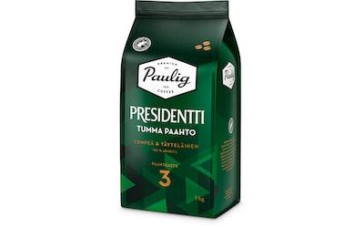 Presidentti Tumma Paahto kahvi 1kg papu