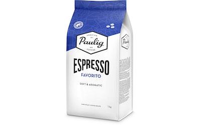 Paulig Espresso Favorito 1kg papukahvi UTZ