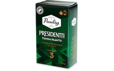 Presidentti Tumma Paahto kahvi 500g pannujauhatus