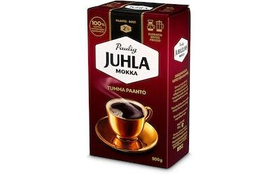 Juhla Mokka Tumma Paahto kahvi 500g suodatinjauhatus
