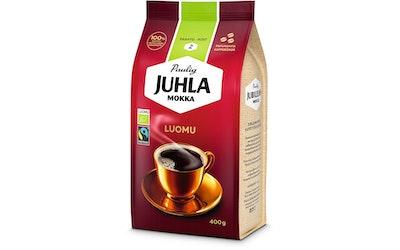 Juhla Mokka kahvipapu 400g luomu
