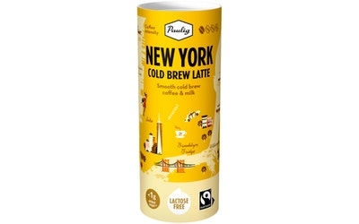 Paulig New York Cold Brew latte 235ml Reilu kauppa