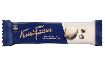 Fazer Sininen ja valkoinen suklaapatukka 38g
