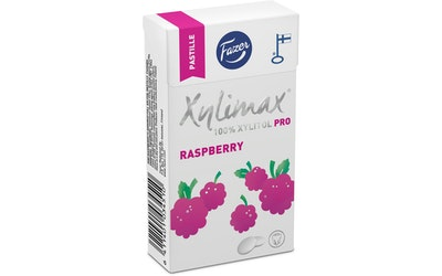 Xylimax Vadelma 38g täysksylitoli pastilleja