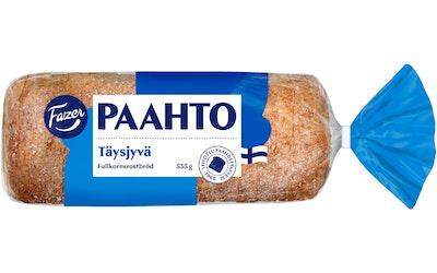 Fazer Paahto Täysjyvä 535g täysjyväpaahtoleipä