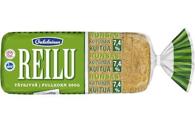 Oululainen Reilu Täysjyvä 550 g täysjyväleipä