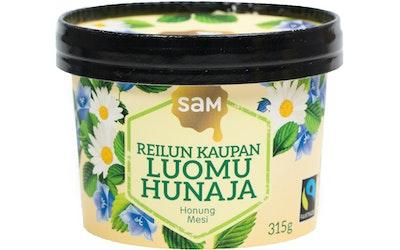 SAM Reilun kaupan luomu hunaja 250g kiteinen