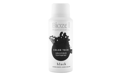 Biozell Color Tech sävyttävä tyvispray 100ml Black - kuva