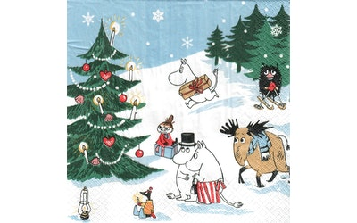 Moomin lautasliina 20kpl/24cm Joulun ihmemaa