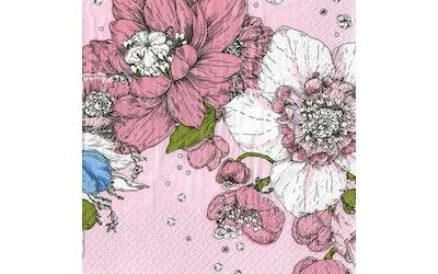 Havi Nuppu liina 24cm 20kpl Sydäntalvi vaaleanpunainen