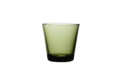 Iittala Kartio juomalasi 21 cl 2 kpl sammaleenvihreä