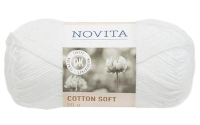 Novita Cotton Soft 50g 011 valkoinen