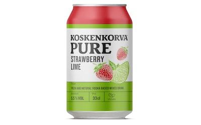 Koskenkorva strawberry lime 33cl 5,5%