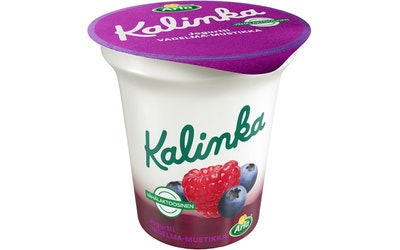 Ingman Kalinka Vadelma-mustikkakerrosjogurtti 150 g vähälaktoosinen