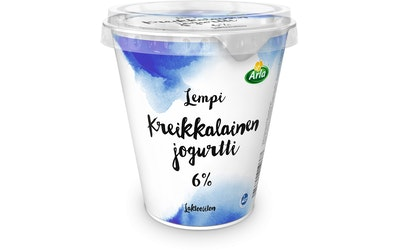 Arla lempi kreikkalainen jogurtti 6% 300g laktoositon
