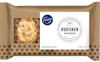Fazer rukiinen riisipiirakka 6 kpl 420g riisipiirakka