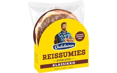 Oululainen Reissumies eväsleipä klassikko kinkku-juusto-muna 160g täytetty täysjyväruisleipä