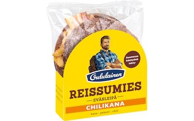 Oululainen Reissumies eväsleipä Chilikana kana-pekoni-chili 135g täytetty täysjyväruisleipä