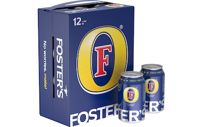 Foster's olut 4,5% 0,33l 12-pack