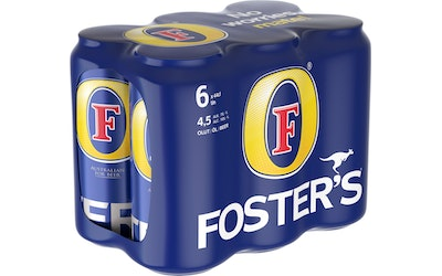 Foster's III olut 4,5% 0,44l 6-pack
