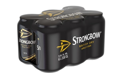 Strongbow British Dry 5% 0,33l 6-pack